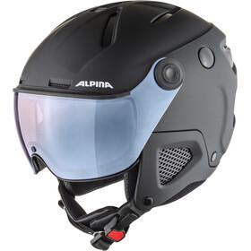 Alpina Attelas Visor QVM Hjelm, black matt silver